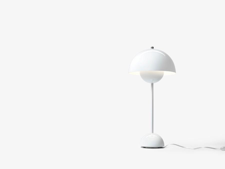 フラワーポット テーブルランプ ( ホワイト・ブラックブルー )φ230 H500mm 各¥64,000
