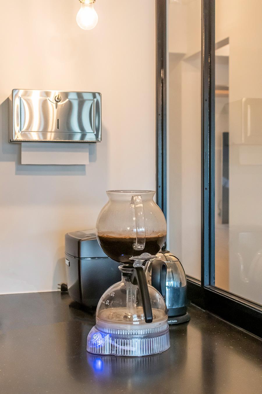 「bodum」の電気式サイフォンコーヒーメーカー。