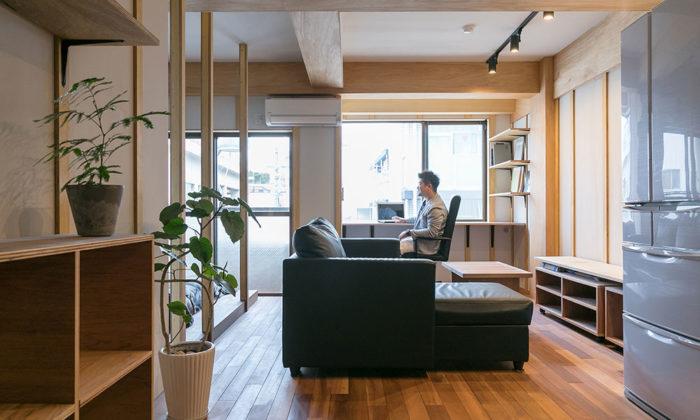 自由なリノベーション施工のプロが自ら手がけたあたたかみのある自宅兼事務所