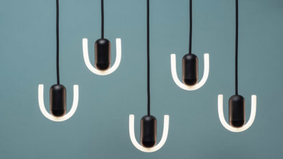 注目の照明BEEMが日本初上陸 英国発、 グラフィカルなLEDランプ