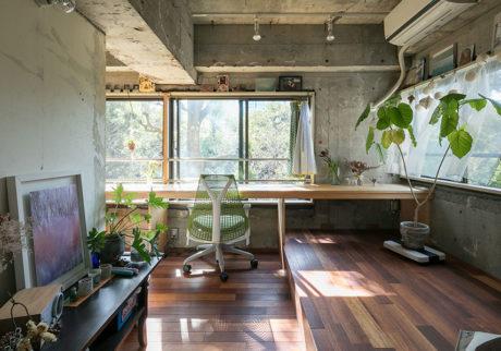 窓一面に広がる緑に一目惚れ多彩な表情が生まれる回遊性のある住まい