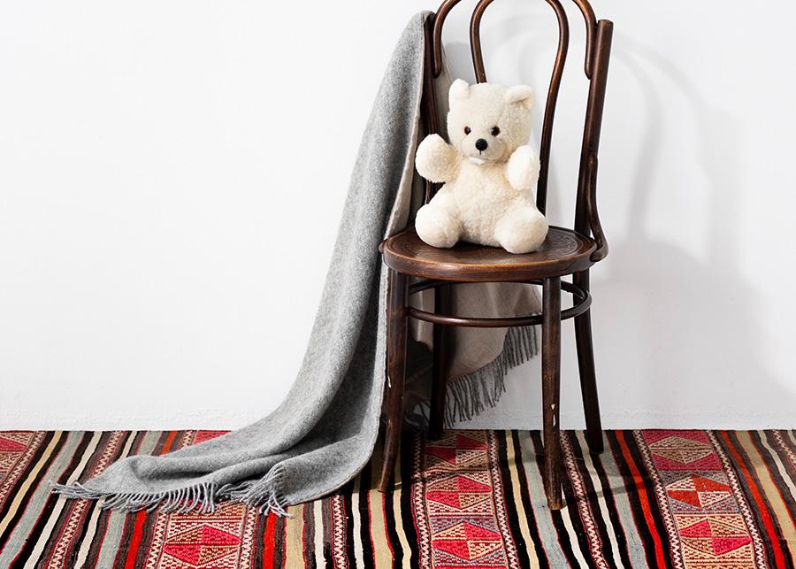 ゴットランド ウール×リネンブランケット 65×200cm ¥17,000 ウールテディベア ¥7,000