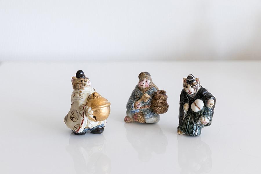 Tさんの友人でもある陶作家 泉水の作品。友人の作品で気に入った物があれば購入し家に飾る。