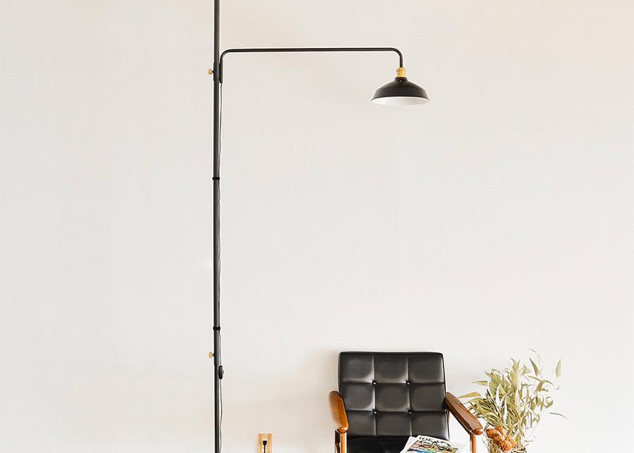 ランプシェード ¥3,800 ランプアーム ¥16,000 空間に合わせてランプシェードとランプアームをチョイス。