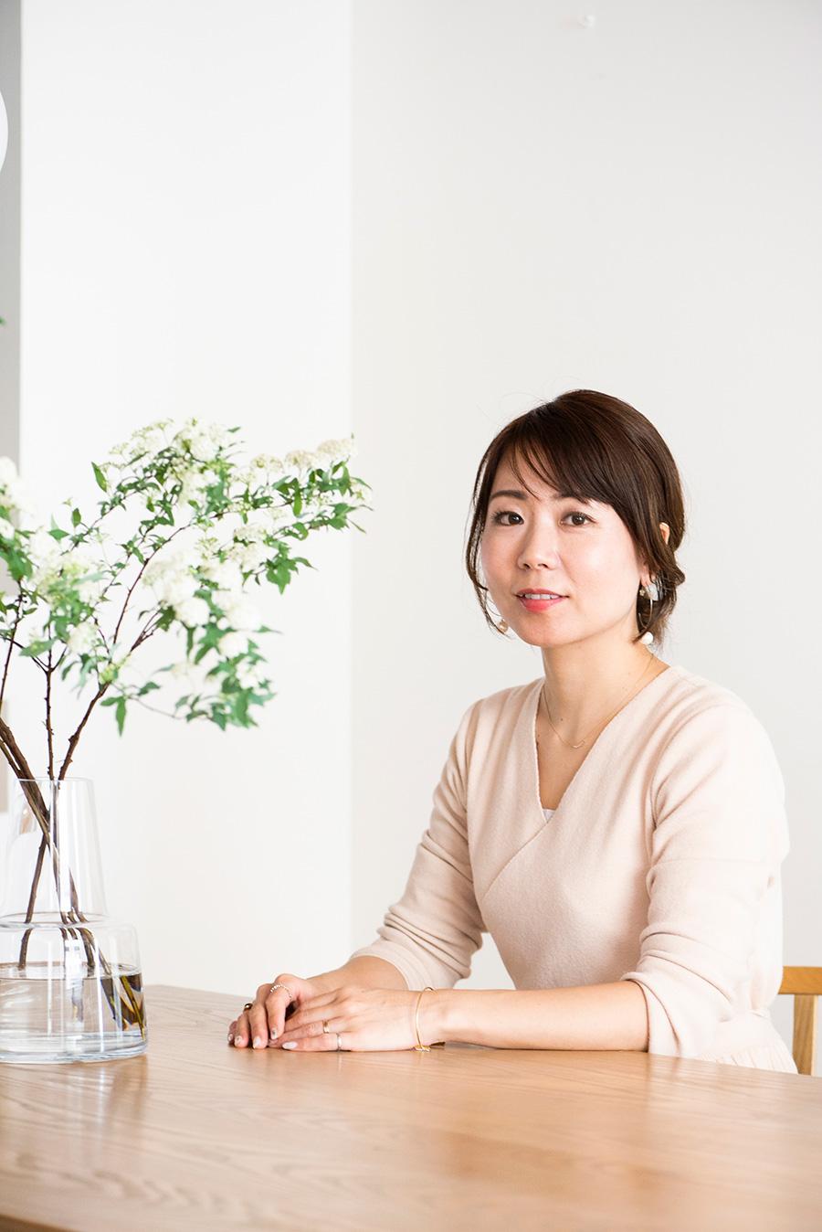 一級建築士・前田彬子さん。間取り、インテリア、収納をトータルで提案する「ie(アイエ)」代表。
