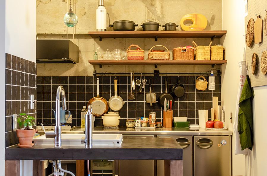 リビングの一角に設けられたキッチンは約4.9㎡。