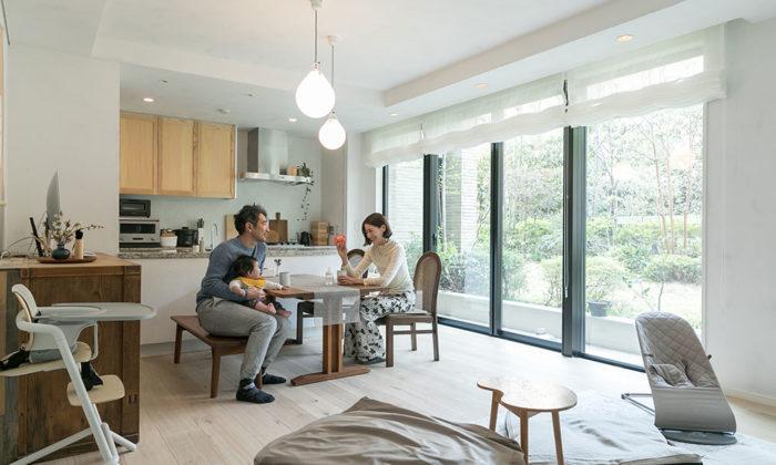 集合住宅に土壁を白×ベージュ。トーンと質感を楽しむリノベーション
