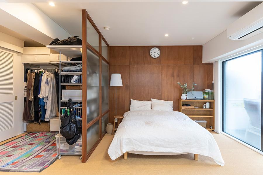 クローゼットと寝室の総面積は約22㎡。