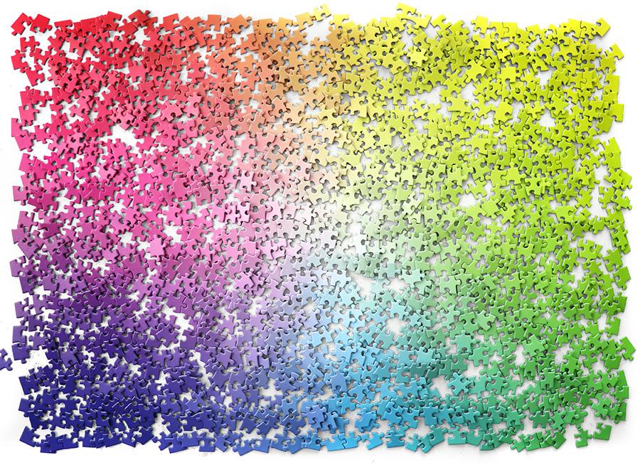 ひとつひとつの色彩と、グラデーションが美しい。