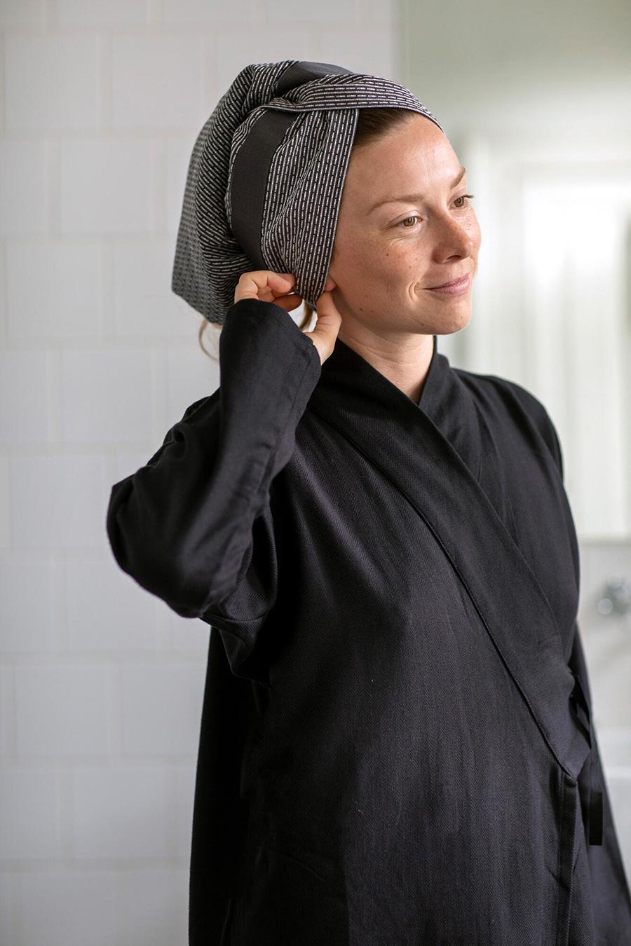 PIQUE HAND HAIR TOWEL 40×120cm 各¥4.000