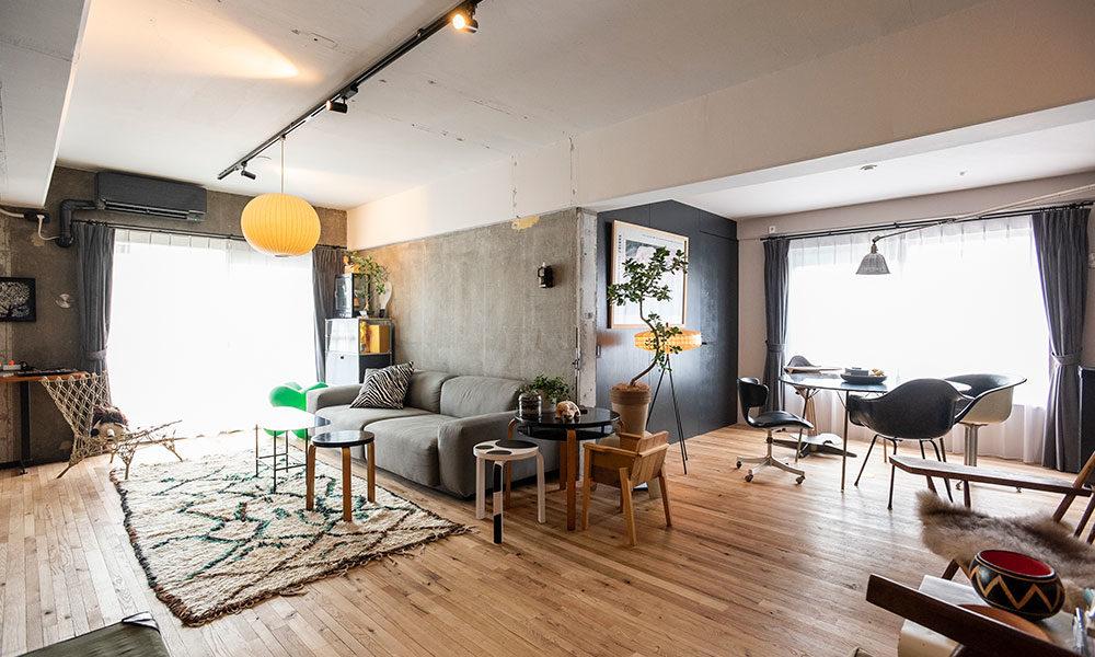 デザインのプロの自邸リノベ  和を意識したギャラリー空間で ヴィンテージ家具を愛でる