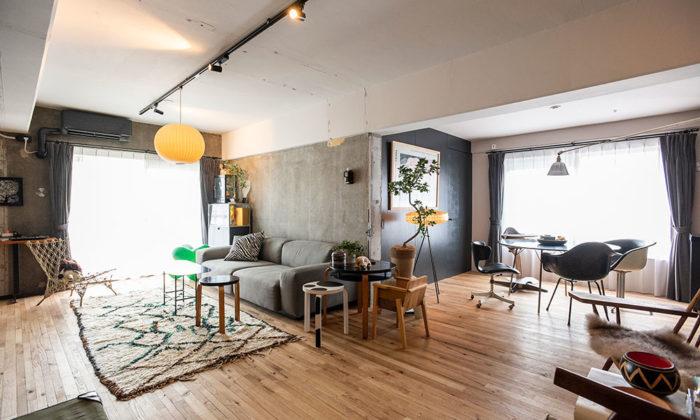 デザインのプロの自邸リノベ和を意識したギャラリー空間でヴィンテージ家具を愛でる