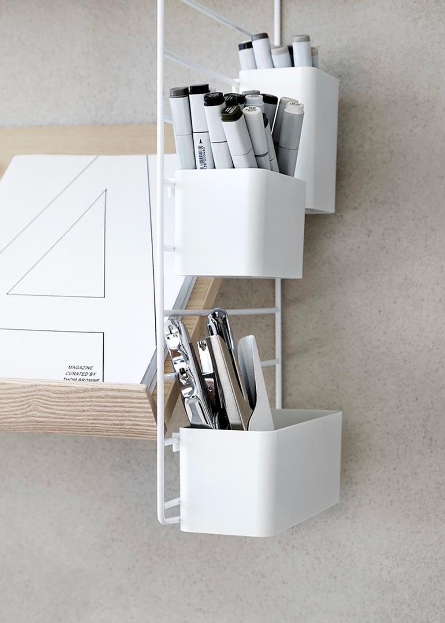 ペンやメガネなど小物をサクッと入れておける。 オーガナイザー 3個セット  ¥6,400