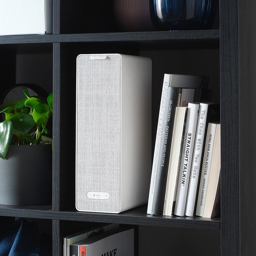 シンフォニスク ブックシェルフスピーカー ( ホワイト ) W10 D15 H31cm ¥13,628 Sonos ( イケア )