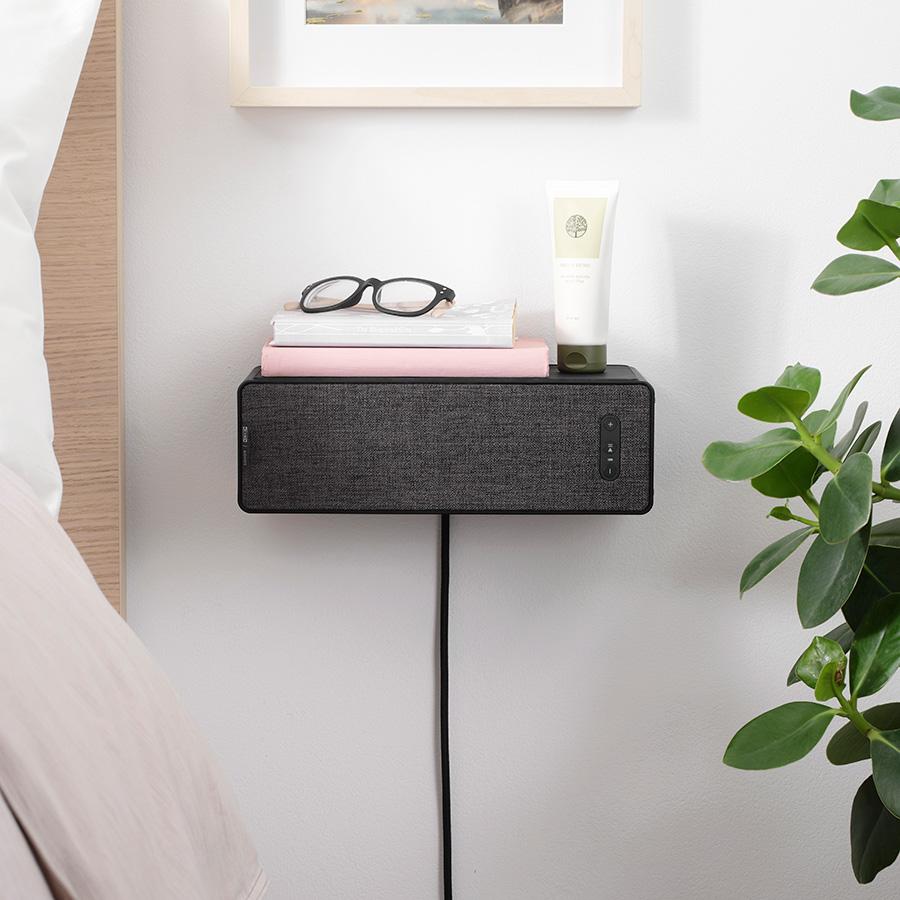 シンフォニスク ブックシェルフスピーカー ( ブラック ) W10 D15 H31cm ¥13,628 Sonos ( イケア )