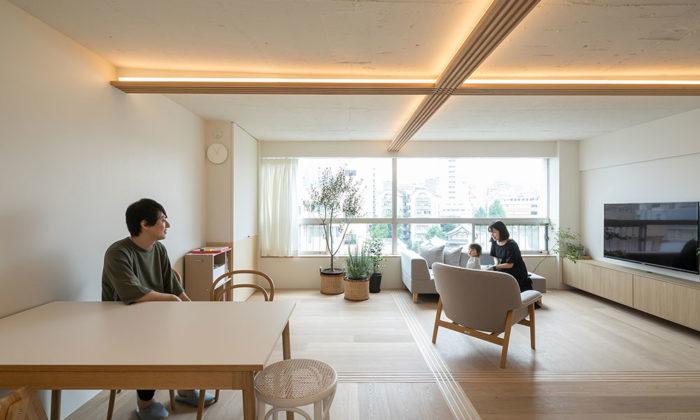 築51年をセルフリノベーション建具でゆるやかに仕切る フレキシブルで居心地の良い空間