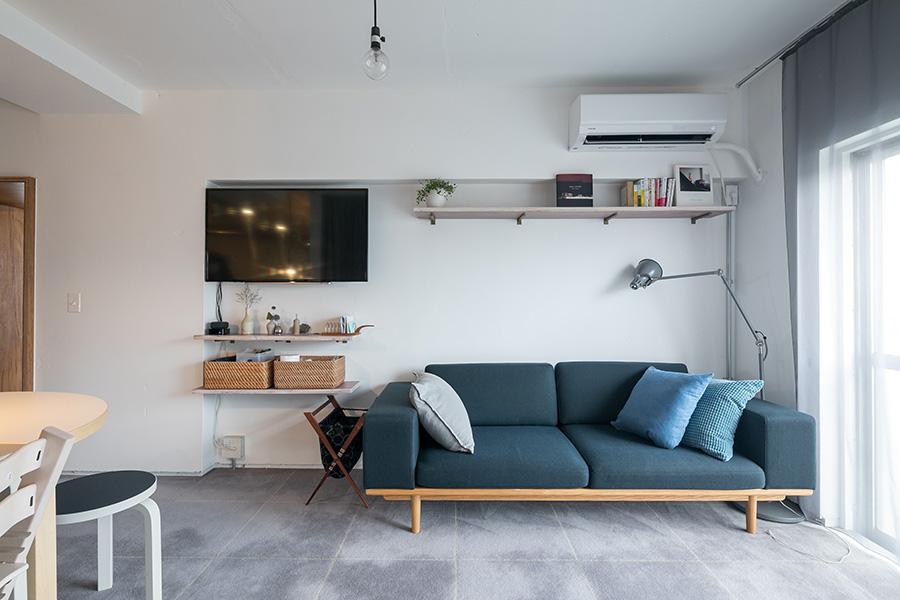 以前の家で愛用していた『graf』のソファを新居に。