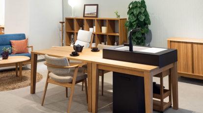 家具として考えるキッチン  シンプル&ミニマムに 自由な発想でLDKをデザイン