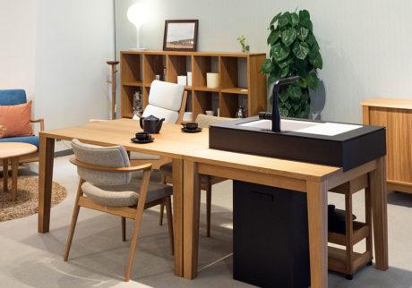 家具として考えるキッチンシンプル&ミニマムに自由な発想でLDKをデザイン
