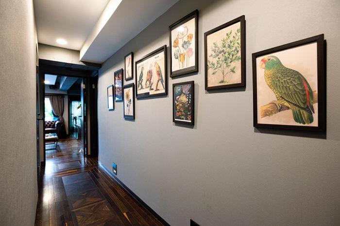 NYの作家JOHN DERIANが収集した図録から切り抜いたものを中心にディスプレイ。鮮やかな色彩が美しい。