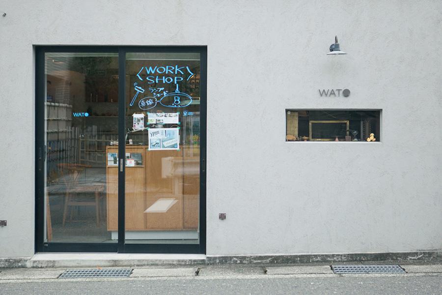 鎌倉・大町に静かに佇むWATOのアトリエショップ。新しい日本のものづくりをここから発信。