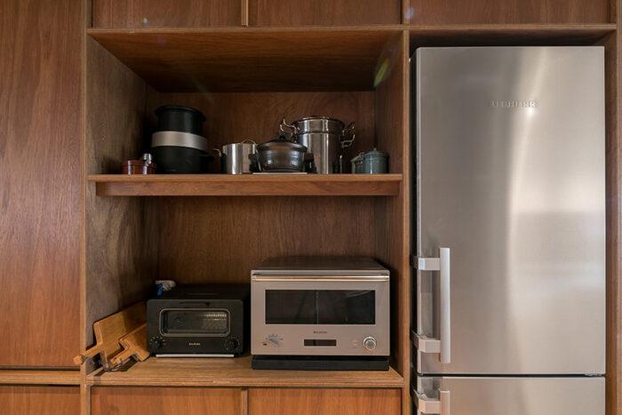 「冷蔵庫は当初ホシザキの業務用を考えていたのですが、ドイツの機械メーカー『LIEBHERR』のものにしました」