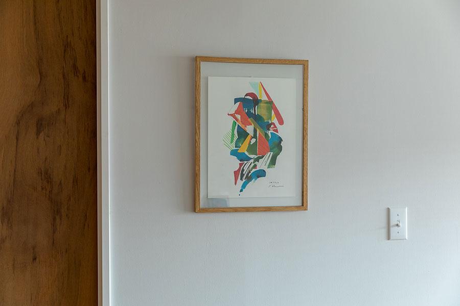 「子どもの1歳の誕生日に、知人のアーティストに描いていただきました」