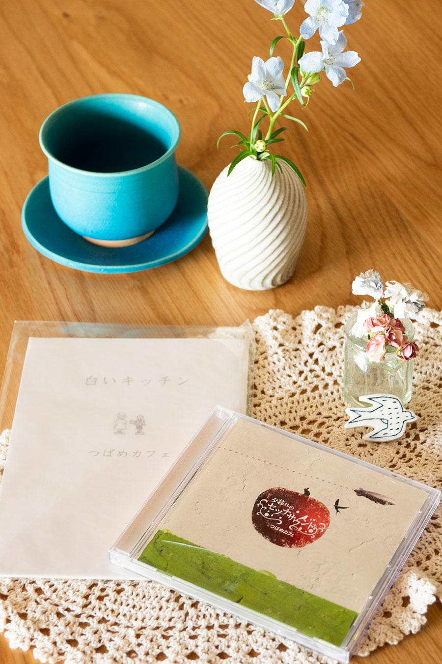 「つばめカフェ」として活動していた佳奈子さんの作品。沖縄・大峰工房の器がお気に入り。