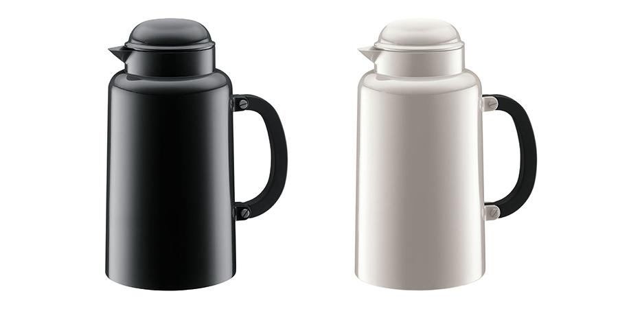 シャンボール サーモジャグ(ブラック・ホワイト) 1.0L W17.5 D12.4 H23.5cm 各¥5,000 ボダムジャパン