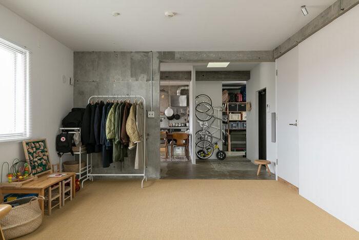 今後はこのフリースペースを仕切って部屋を作ることもできる。