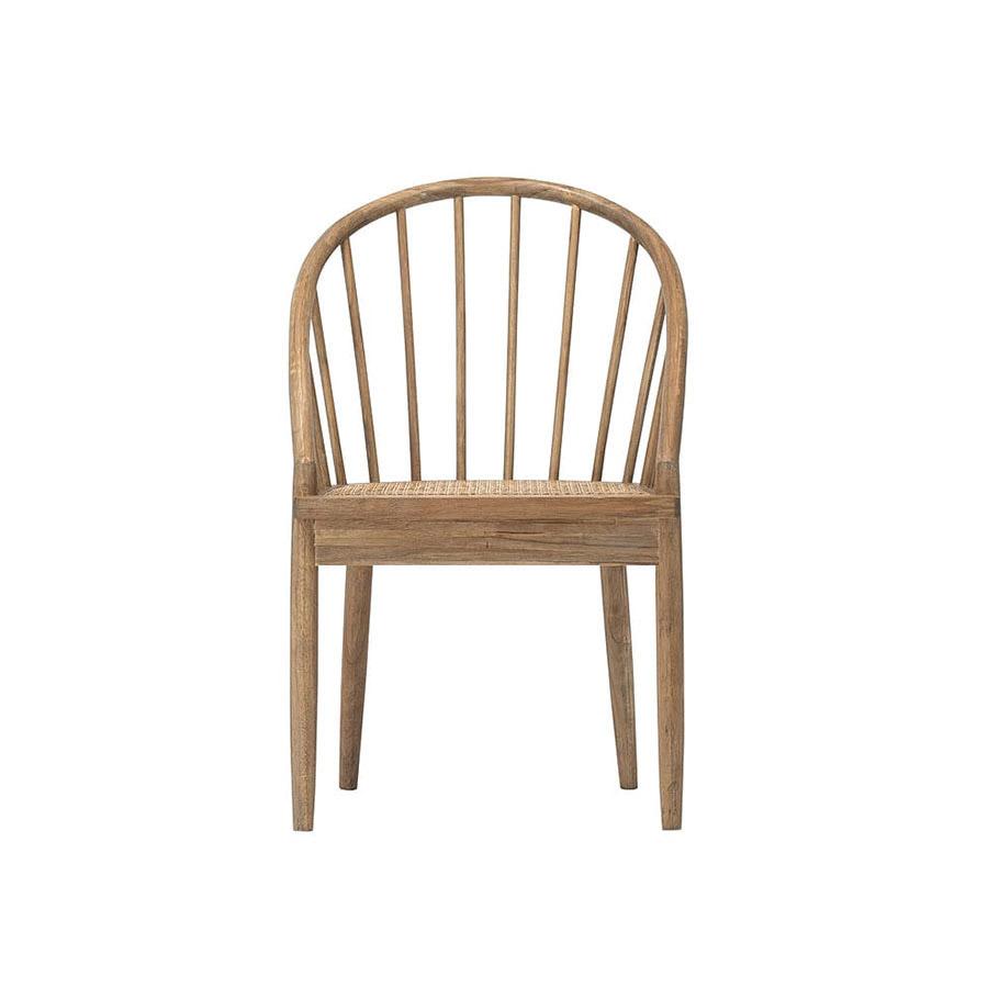 『journal standard Furniture』 GIORGI CHAIR/背もたれの大きな曲線と座面のラタンがヴィンテージ感のあるデザイン。