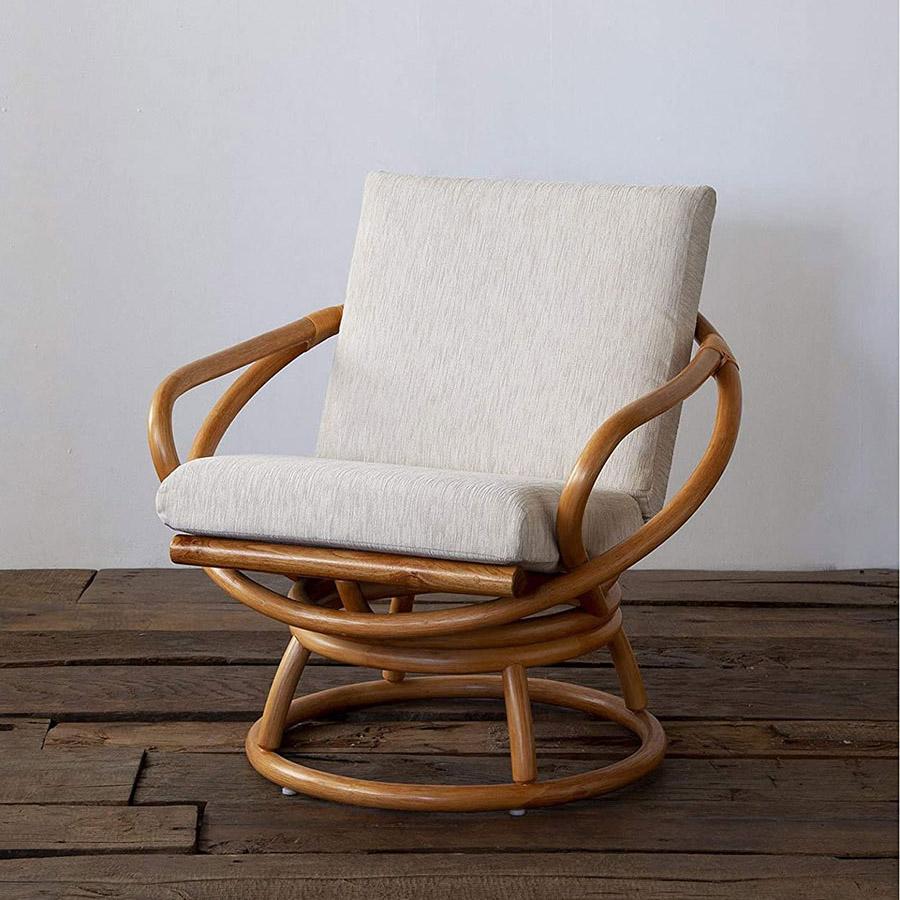 『ACME Furniture』BALBOA LOUNGE CHAIR/アメリカ西海岸ではポピュラーな意匠のラタンを使ったチェア。ラタンならではの曲線が美しい。