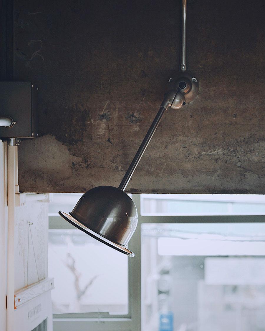 JIELDE LOFT WALL LAMP WITH ARM ( Brushed steel ) head : φ150mm arm : 400mm  ¥49,500