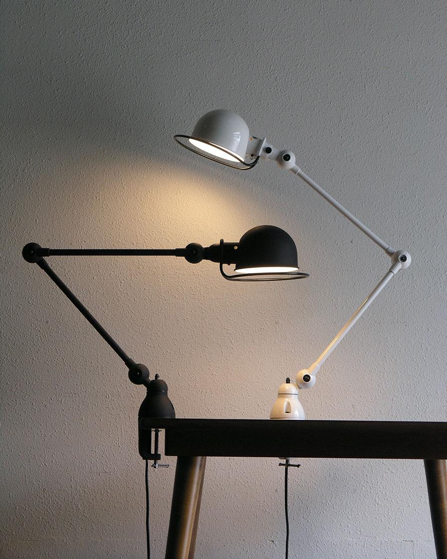 JIELDE 4040 DESK LAMP -CLAMP ( Matte black・White・Grey・Brushed steel ) arm : 440+440mm head : φ160x115mm ¥60,500〜
