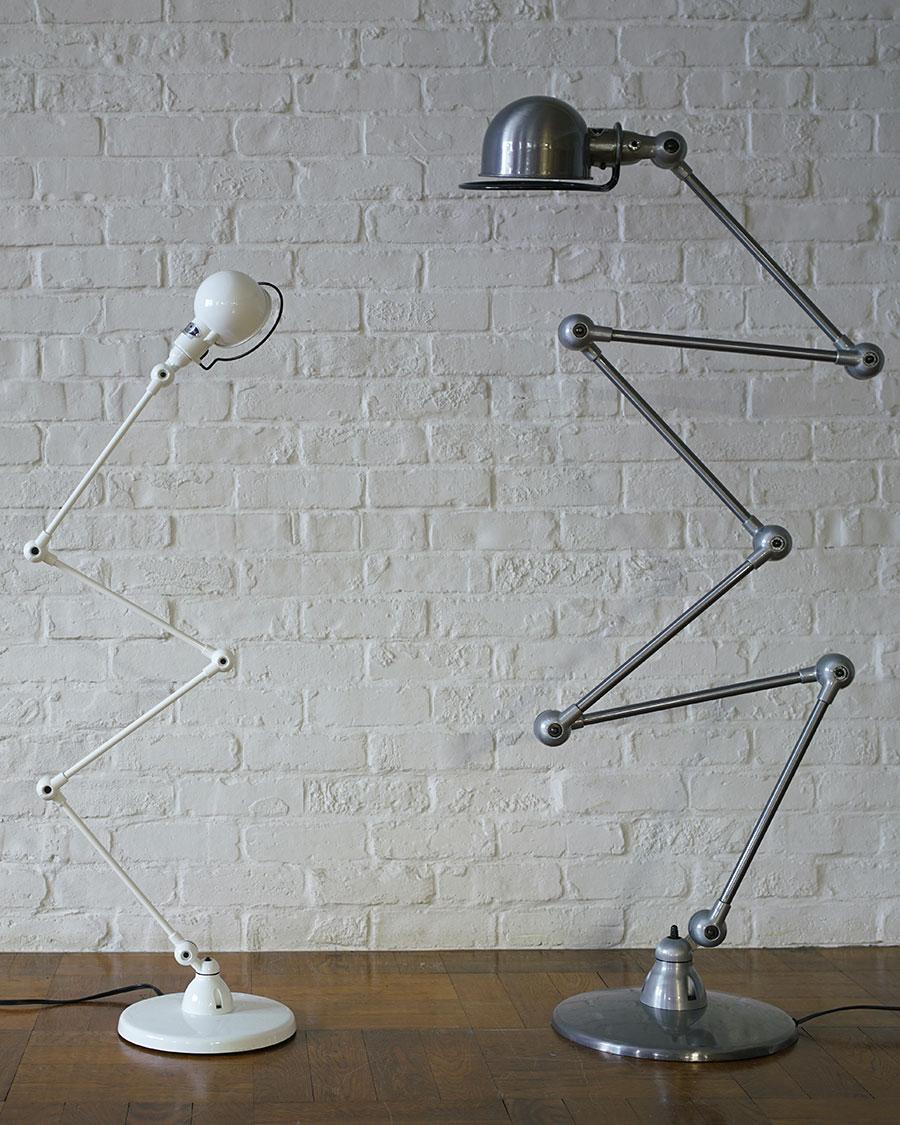 (左)JIELDE 433 SIGNAL ZIGZAG FLOOR LAMP (Brushed steel・White ) arm : 300mmx4 head : W105x90mm base : φ245mm ¥51,700〜