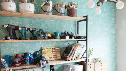 昭和の襖をDIYでリメイク 空間に合わせて 世界にひとつのドアに