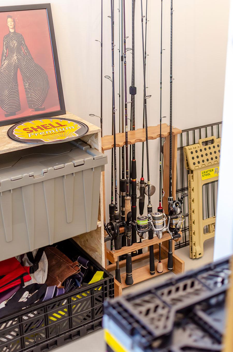 釣り道具は雄飛さんの趣味。