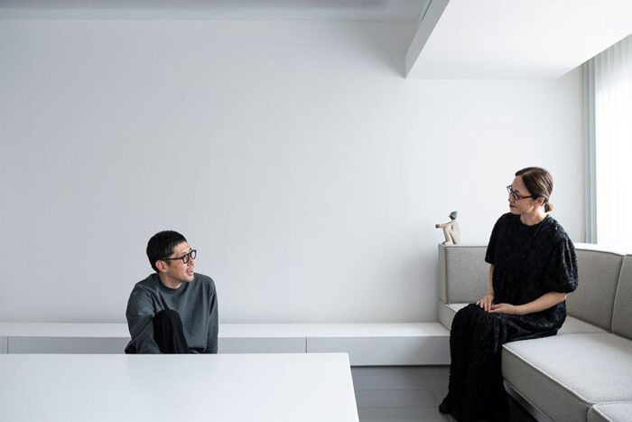 米谷ひろしさんと増子由美さん。2002年に君塚賢さんと「TONERICO:INC.」を設立。店舗設計、店舗デザインを中心に、住宅、プロダクトデザインを手がける。