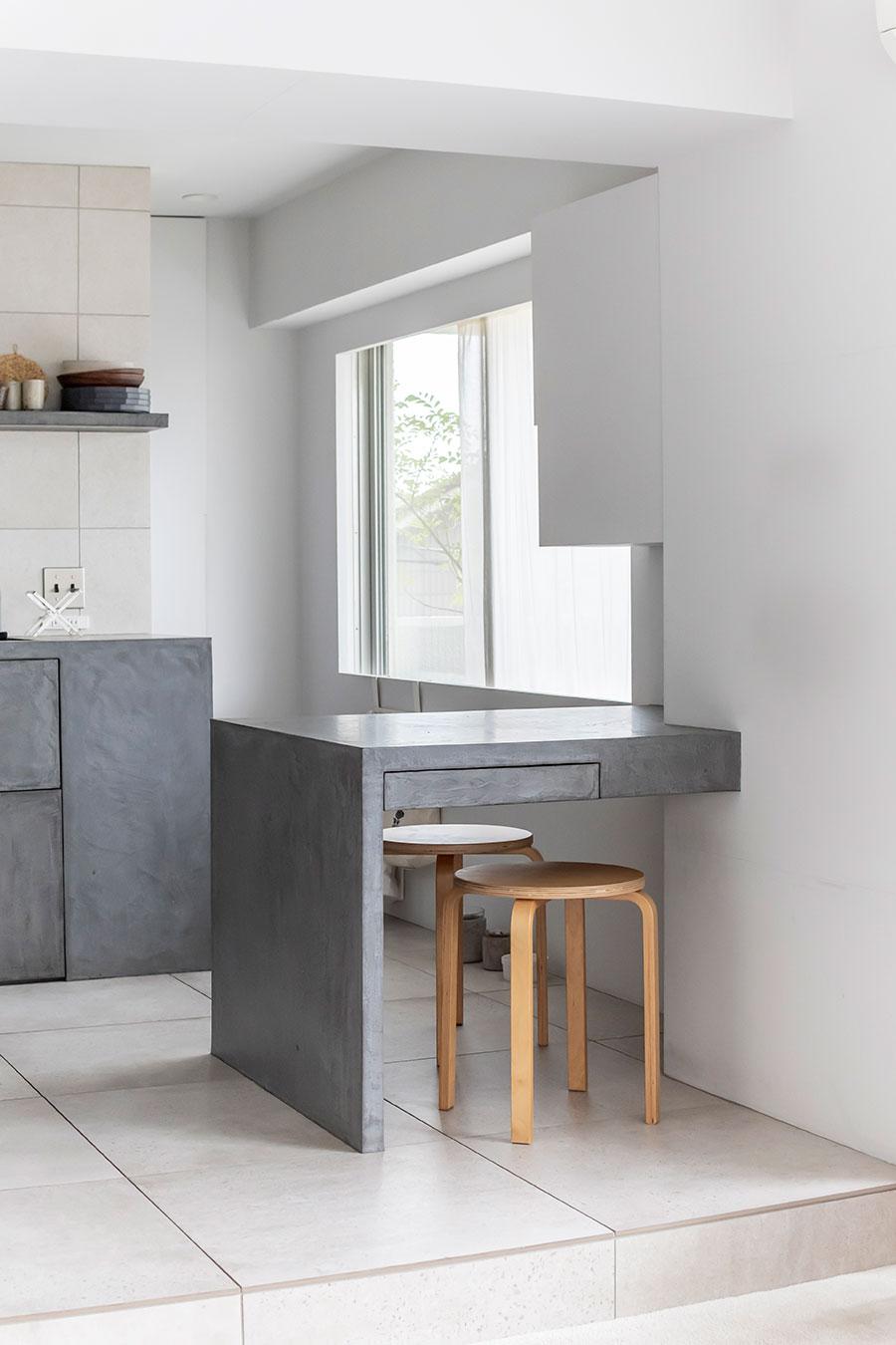 造り付け家具にすることで空間効率をアップ。