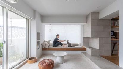 50㎡未満の建築家夫婦リノベーション 狭くても快適に過ごせる、置き家具のない家