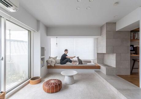 50㎡未満の建築家自宅リノベーション狭くても快適に過ごせる、置き家具のない家