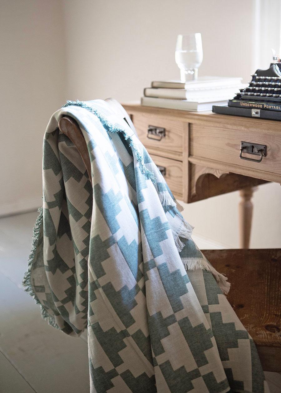 コットンスロー CONFECT ( Pine ) 130x170cm ¥13,200 BRITA SWEDEN ( HAFEN )