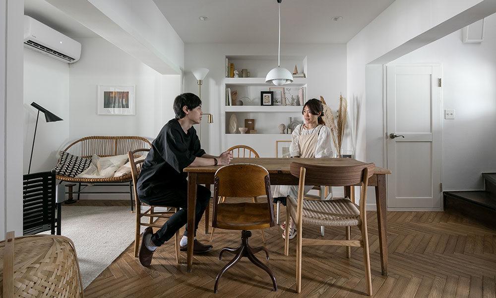 デザインユニット夫妻の住まい  純和風の昭和レトロ物件を 海外のアパルトマン風に