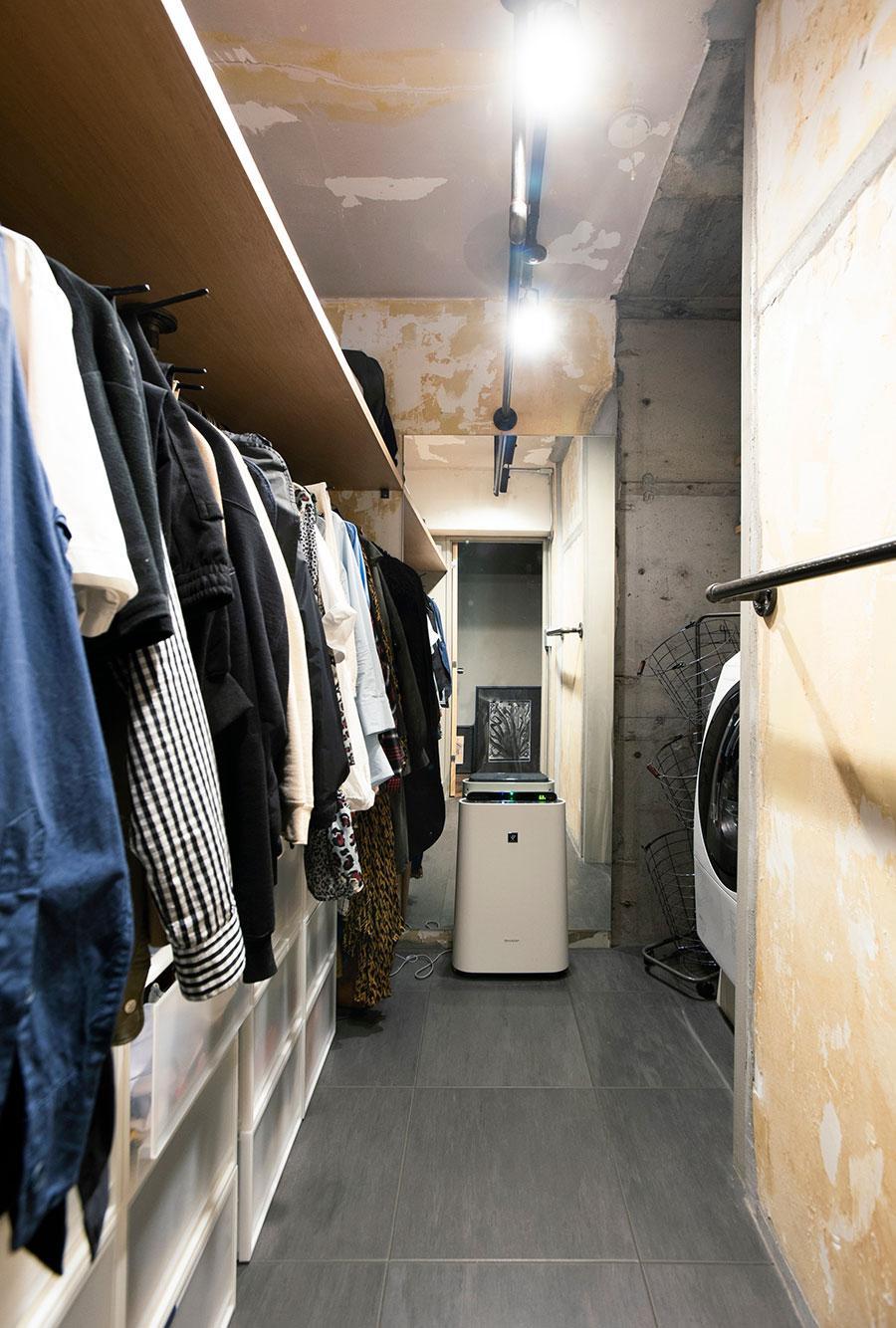 ランドリーとWICが一体になり、洗濯動線もいい。