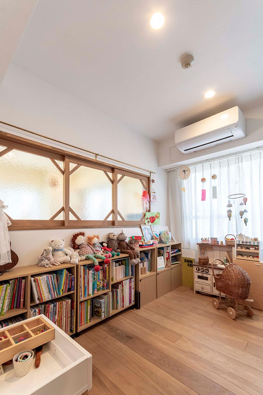 子供が遊びや勉強に集中できる空間。